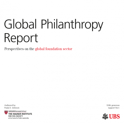 Global Philanthropy Report